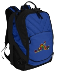 Peace Frogs Deluxe Computer Backpack Blue