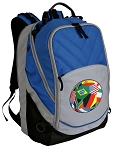 Soccer Deluxe Laptop Backpack Blue