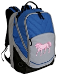 Cute Horse Deluxe Laptop Backpack Blue