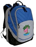 Flamingo Deluxe Laptop Backpack Blue