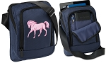 Cute Horse Tablet or Ipad Shoulder Bag Navy