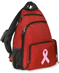 Pink Ribbon Sling Backpack