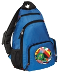 Soccer Sling Backpack Blue