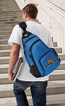 Peace Frogs Sling Backpack Blue