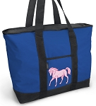 Cute Horse Tote Bag Blue