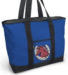 Horse Design Tote Bag Blue