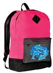 Dolphin Backpack HI VISIBILITY Pink CLASSIC STYLE