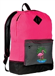Pink Flamingo Backpack HI VISIBILITY Pink CLASSIC STYLE