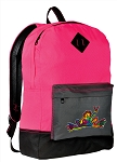 Peace Frogs Backpack Classic Style HOT PINK