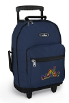 Peace Frogs Rolling Navy Backpacks