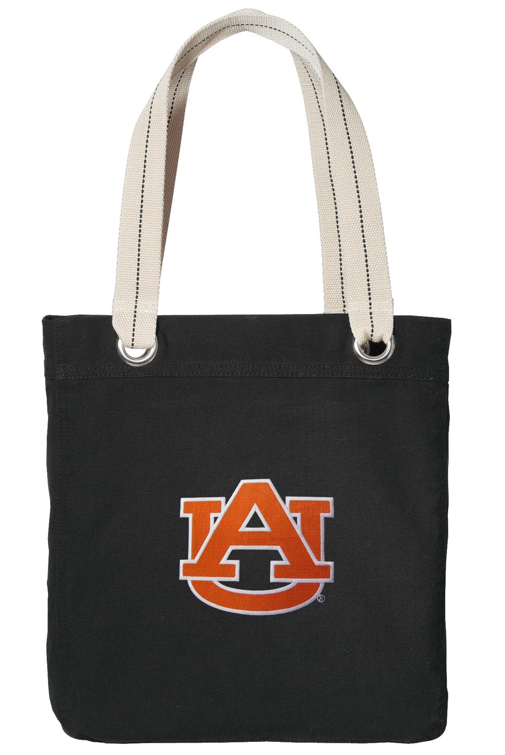 Auburn Tote Bag Rich Cotton Canvas Black