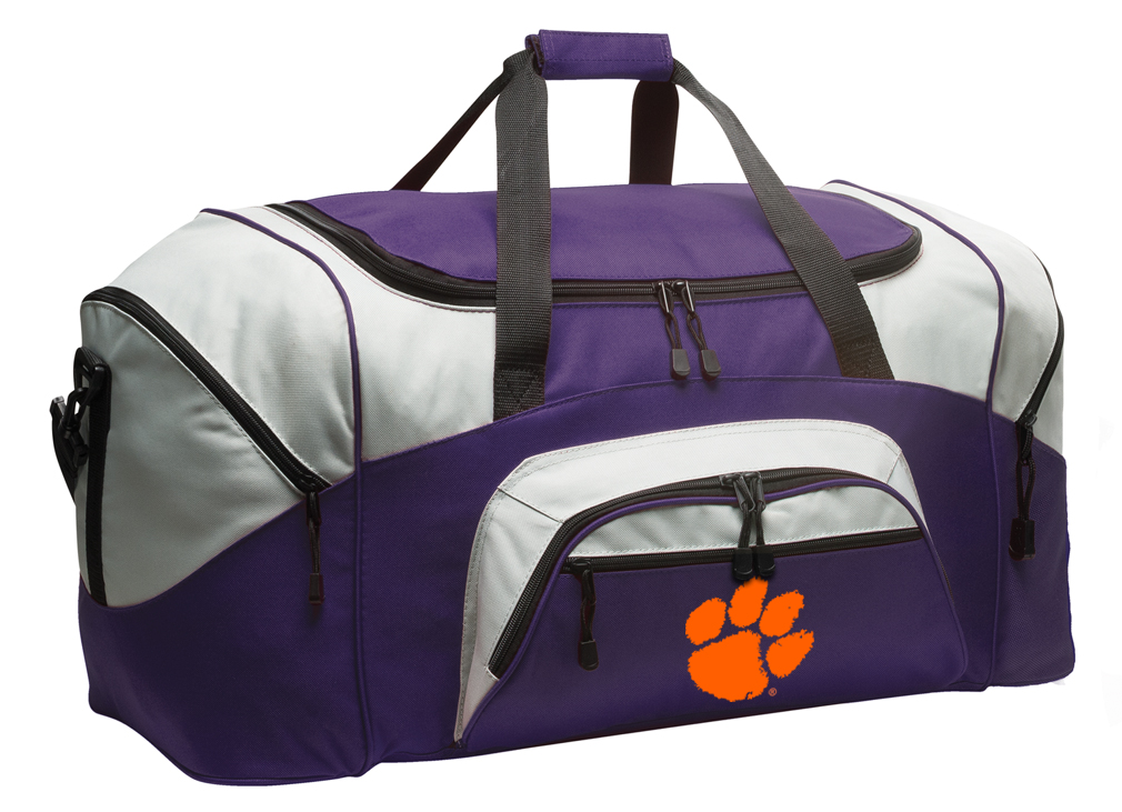 c3f6839d39 LARGE Clemson University Duffle Bags   Gym Bags