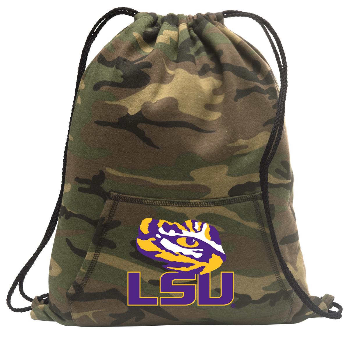 Broad Bay Camo LSU Cinch Bag Cool Hoody Cinch Backpack