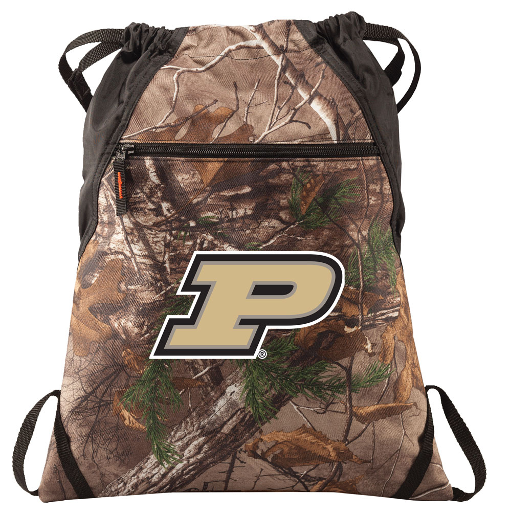 Home > College Logo Gifts > PURDUE Gifts > Purdue RealTree Camo Cinch Pack
