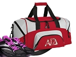 SMALL Alpha Gamma Delta Gym Bag AGD Sorority Duffle Red