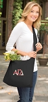 Alpha Gamma Tote Bag Sling Style Black