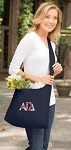 Alpha Gamma Tote Bag Sling Style Navy
