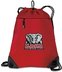Alabama Drawstring Backpack MESH & MICROFIBER Red