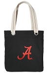 University of Alabama Tote Bag RICH COTTON CANVAS Black