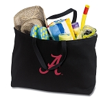 University of Alabama Jumbo Tote Bag Black