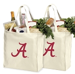 University of Alabama Shopping Bags Alabama Crimson Tide Grocery Bags 2 PC SET