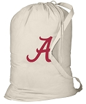 University of Alabama Laundry Bag Natural