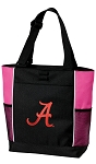 University of Alabama Neon Pink Tote Bag