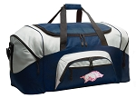 Large Womens University of Arkansas Duffle Arkansas Razorbacks Duffel Bags