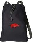 Arkansas Razorbacks Cotton Drawstring Bag Backpacks
