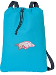 University of Arkansas Cotton Drawstring Bag Backpacks Blue