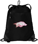 University of Arkansas Drawstring Backpack-MESH & MICROFIBER