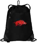 Arkansas Razorbacks Drawstring Backpack-MESH & MICROFIBER