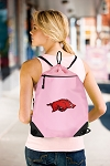 Arkansas Razorbacks Drawstring Bag Mesh and Microfiber Pink