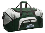 Large Alpha Xi Delta Duffle Bag Green