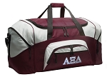 Large Alpha Xi Duffle Bag Maroon