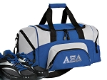 SMALL Alpha Xi Delta Gym Bag AZD Sorority Duffle Blue