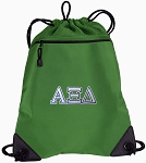 Alpha Xi Drawstring Backpack Mesh and Microfiber