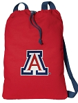 Arizona Wildcats Cotton Drawstring Bag Backpacks Cool RED