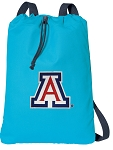 Arizona Wildcats Cotton Drawstring Bag Backpacks Blue