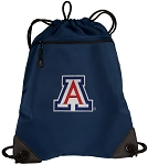Arizona Wildcats Drawstring Backpack-MESH & MICROFIBER Navy
