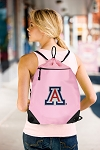 Arizona Wildcats Drawstring Bag Mesh and Microfiber Pink