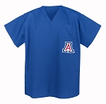 University of Arizona Wildcats Scrubs Top Shirt- ROYAL BLUE