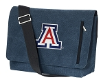 Arizona Wildcats Messenger Bags STYLISH WASHED COTTON CANVAS Blue