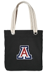 Arizona Wildcats Tote Bag RICH COTTON CANVAS Black
