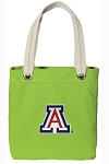 Arizona Wildcats Tote Bag RICH COTTON CANVAS Green