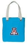Arizona Wildcats Tote Bag RICH COTTON CANVAS Turquoise