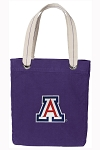 Arizona Wildcats Tote Bag RICH COTTON CANVAS Purple