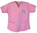 University of Arizona Wildcats Pink Scrubs Tops SHIRT