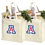 University of Arizona Shopping Bags Arizona Wildcats Grocery Bags 2 PC SET