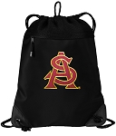 ASU Drawstring Backpack-MESH & MICROFIBER